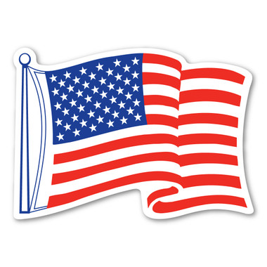 The United States Flag was first created in 1777, bearing 13 stars to represent the 13 colonies. The number of stars in the flag has changed many times as states were added between 1777 and 1960, when the flag came to be as it is today. This American Flag Waving Mini Magnet is a great way to show that you are proud to be an American!