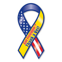 Regardless of what branch of service a veteran has served in, we should always be thankful.  Without their day-to-day sacrifice, our freedom would be non-existent.  Our Got Freedom? Thank a Vet! Ribbon Magnet is a great way to show your year-round support for our veterans.