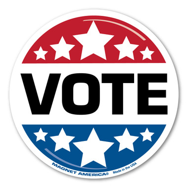 Our VOTE decal is great for whatever party you belong to---Republican, Democrat, Libertarian, or Independent.  During election season, it is important to exercise your rights. Go out and vote!