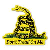 Christopher Gadsden, an American general and statesman, designed the flag in 1775 during the American Revolution. The yellow background represents the battlefield which has a rattlesnake coiled up and ready to strike with the meaning of being in constant preparedness of defending and protecting the United States at all cost. The Army has used this symbol for over 236 years.  Our Don't Tread on Me magnet is a great way to show your pride of the United States and its protection.