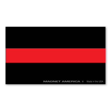 "The Thin Red Line, also know as ""The Thin Red Line of Courage"", is a symbol used by fire departments to show respect for firefighters who have been injured and killed in the line of duty. Firefighters are the first to enter a burning building and the last to exit! Show your respect for those who have risked their lives with our Thin Red Line magnet."