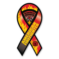 Firefighters are hard workers, dedicating themselves to be able to do their job effectively by saving lives.  Bravery, loyalty and honor describes firefighters. Our American Firefighter ribbon magnet is a great way to show your support for the brave men and women who risk their lives everyday. This fantastic design has the maltese design on the bottom of the ribbon.  The inset magnet is for those who are proud of a loved one who is a firefighter. Also, these ribbons make a great fundraiser for Firefighter support groups.