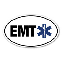 EMTs became a part of the medical field in the 1970s. What a blessing it is to have these medical personnel to help our family and friends in a case of emergency before we are able to make it to the hospital! Many lives are saved! Our EMT (Emergency Medical Technician) oval decal is a great way to show you are thankful for an EMT in your life or by showing your pride as a health care professional!