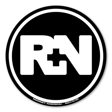 The nursing profession was brought to the forefront during the Civil War. It has grown steadily and is one of the most sought after healthcare professions. Nurses are dedicated and committed to their patients to provide optimal health and maintain their quality of life. Our RN black circle magnet is perfect for registered nurses whatever field they may work in.