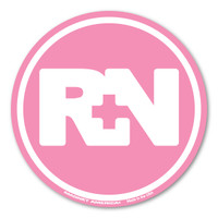 The nursing profession was brought to the forefront during the Civil War. It has grown steadily and is one of the most sought after healthcare professions. Nurses are dedicated and committed to their patients to provide optimal health and maintain their quality of life. Our RN pink circle magnet is perfect for registered nurses whatever field they may work in.