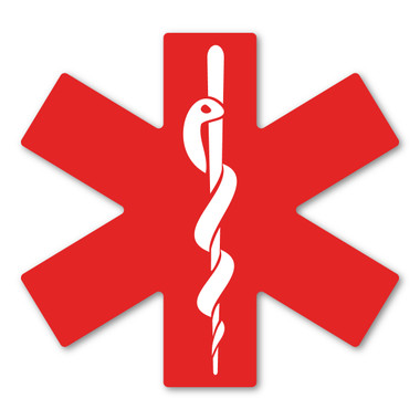 The Star of Life is the official symbol of certification for emergency medical services. This symbol represents life.  EMS are first responders and will do what is necessary in an emergency situation. Our Star of Life magnet is a great way to show you are thankful for the EMS in your life!