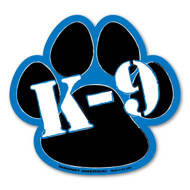 Our K9 police officers are very important as they give their lives and are dedicated to keeping us safe. Our K9 magnet can be used by law enforcement to make people aware there is a K9 officer present in their vehicle or it can be used to show your support for our canine officers. K9 blue lives matter!
