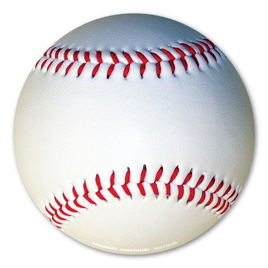 Strike!  You're Out!  is one of the most famous calls in the game of baseball. Brought to America by immigrants, this game has been recognized as America's national sport. No matter if you play the game or are a fan, our baseball magnet will show your enthusiasm!