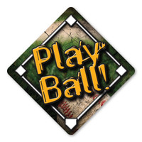 Play ball! is one of the famous phrase in getting the game of baseball started. Brought to America by immigrants, this game has been recognized as America's national sport. No matter if you play the game or are a fan, our baseball diamond magnet will show your enthusiasm!