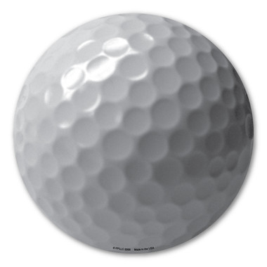 Golf doesn't end until the ball lands in the hole!  Show your how much you like to play golf with this golf ball magnet!