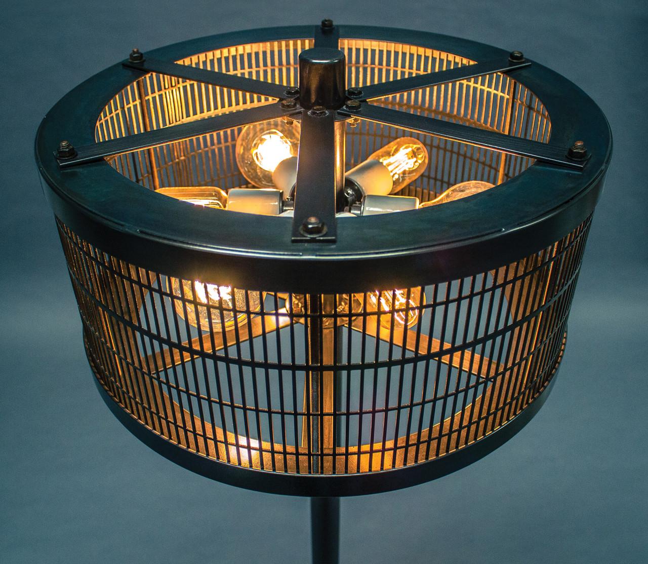 American Fabhouse Vintage Cage Floor Lamp
