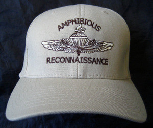 Amphib Recon logo on tan hat