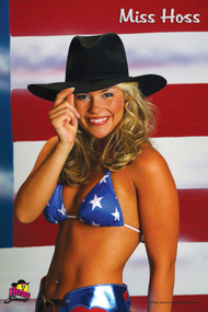 Miss Hoss Flag Glossy Wall Poster Salon