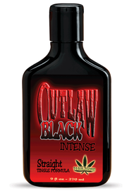 Outlaw Black Intense Straight Tingle Tanning Lotion 9oz