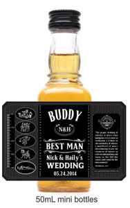 Personalized Mini 50 ml. Whisky labels (JD Style) (JDMR002)