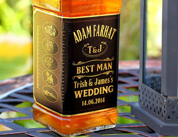 Personalized Whisky Gold Foil Labels (JD Style)