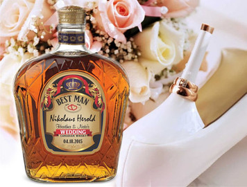 Personalized Crown Royal Wedding Labels