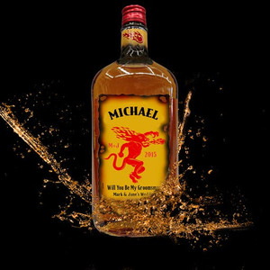 Personalized Spicy Whisky Labels (Fireball Style)