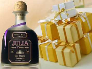Personalized Tequila Gold Labels (Patron Style)