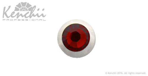 Red single stone jewel screw.