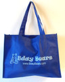 Blue Bday Bears shopping tote bag