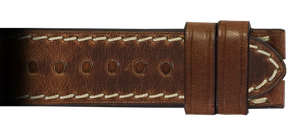 RIOS1931 24x22 Whiskey Chromexcel Vintage Leather Watch Strap for Panerai Deploy Buckle | Paneraibands.com