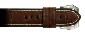 Genuine Alligator RIOS1931 24x22 Mahogany Modena to fit Panerai Watches | Paneraibands.com