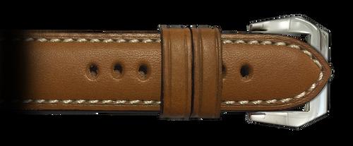 RIOS1931 Cognac Firenze Genuine Leather Watch Strap for Panerai | Paneraibands.com