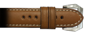 26x22 RIOS1931 Cognac Firenze Genuine Leather Watch Strap to fit Panerai Radiomir | Paneraibands.com