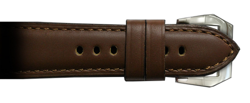RIOS1931 26x22 Mahogany Milano Genuine Leather Watch Strap to fit Panerai Radiomir Watches | Paneraibands.com