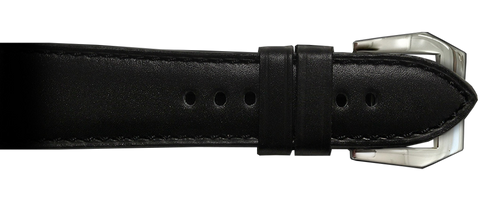 RIOS1931 26x22 Black Milano Genuine Leather Watch Strap to fit Panerai Radiomir Watches | Paneraibands.com