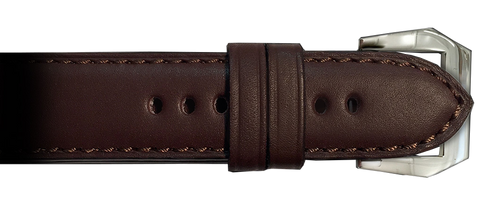 RIOS1931 24mm Mocha Milano Genuine Leather Watch Strap for Panerai Watches   Paneraibands.com