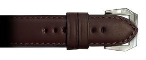 RIOS1931 24mm Mocha Milano Genuine Leather Watch Strap for Panerai Watches | Paneraibands.com