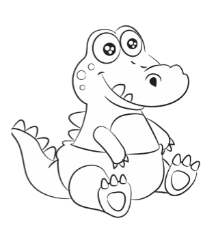 Andy the ABDL Alligator Coloring Book Page - FREE
