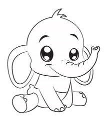 Ella Elephant Coloring Book Page