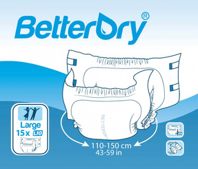 BetterDry Adult Baby Diapers Fun Pack