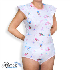Rearz Princess Pink Adult Onesie - White