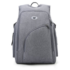 Discreet Backpack Diaper Bag - Grey