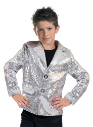 Disco Jacket Silver Child Larg