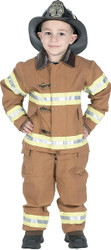 Fire Fighter Tan W Hat 8 To 10