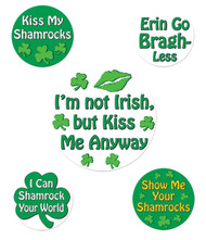 St Patricks Funny Party Button