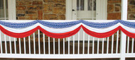 Stars Stripes Fabric Bunting - BG54684RWB