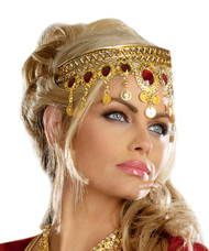 Headpiece Gold Dripping Rubies