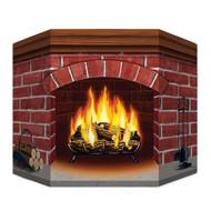 Brick Fireplace Standup