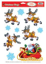 Santa  Sleigh Clings