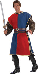 Medieval Tabard Adult Red Blue