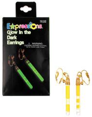 Earrings Glow In Dark Green