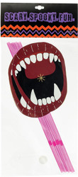 Straws W Fangs Paper Mouth
