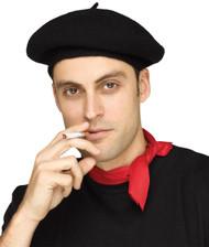 Hat French Beret Black