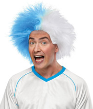 Sports Fun Wig Light Blue Whit